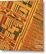 Pentium Computer Chip Metal Print
