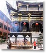 People At The Buddhist Temple Metal Print