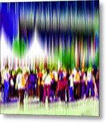 People Walking In The City-2 Metal Print
