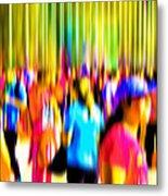 People Walking In The City-4 Metal Print