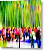 People Walking In The City-9 Metal Print