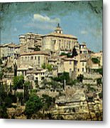 Perched Village Of Gordes Metal Print