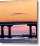 Perdido Bridge Sunrise Closeup Metal Print