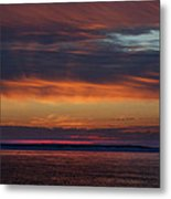 Perdido Pass Red Sunrise Metal Print