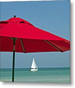 Perfect Beach Day Metal Print by Elvira Butler