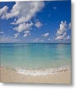 Perfect Beach Day With Blue Skies Metal Print by Mike Theiss