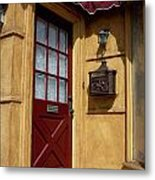 Perfectly Paletted Doorway Metal Print