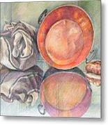 Perol Con Bulto Y Pan Metal Print