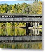 Perrine's Covered Bridge Metal Print