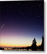 Perseid Meteor Trail Metal Print by David Nunuk