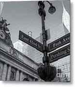 Pershing Square Skyline II Metal Print