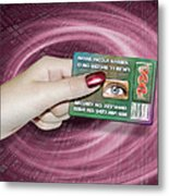 Personal Id Card Metal Print by Victor Habbick Visions