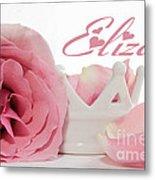 Personalized Princess Petals Metal Print