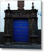 Peruvian Door Decor 12 Metal Print