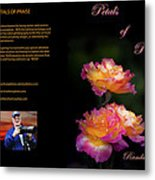 Petals Of Praise Books By Randall Branham Metal Print