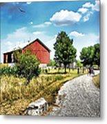 Peter Stuckey Farm Metal Print