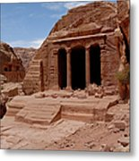 Petra's Garden Temple Metal Print