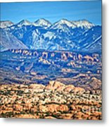 Petrified Dunes And La Sal Mountains Metal Print