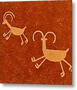 Petroglyph Artwork Metal Print