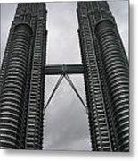 Petros Towers Surreal Metal Print
