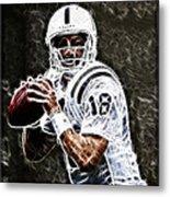 Peyton Manning 18 Metal Print by Paul Ward