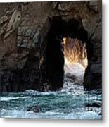 Pfeiffer Rock Big Sur Metal Print