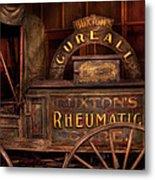 Pharmacy - The Rheumatic Cure Wagon  Metal Print