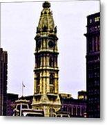 Philadelphia City Hall Tower Metal Print