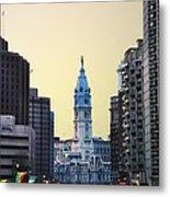 Philadelphia Cityhall At Dawn Metal Print