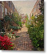 Philadelphia Courtyard - Symphony Of Springtime Gardens Metal Print by Mother Nature