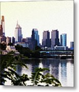 Philadelphia From The Banks Of The Schuylkill River Metal Print