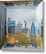 Philadelphia Skyline - Mirror Box Metal Print