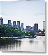 Philadelphia View From The Girard Avenue Bridge Metal Print by Bill Cannon