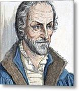 Philipp Melanchthon (1497-1560). German Scholar And Religious Reformer: Line Engraving, German, 19th Century Metal Print