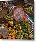 Philippines 2100 Food Market With Scale Metal Print