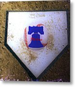Phillies Home Plate Metal Print by Bill Cannon