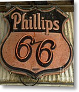 Phillips 66 Vintage Sign Metal Print