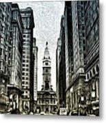 Philly - Broad Street Metal Print