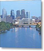 Philly In Blue Metal Print