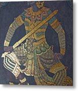 photo of art painting on Thai temple wall Metal Print by Komkrit Muanchan