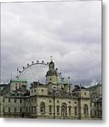 Photo Of London With London Eye In The Background Metal Print