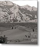 Photographers Capturing Images Of The Dunes At Death Valley  Metal Print