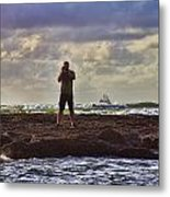 Photographing Seaside Life Metal Print by Douglas Barnard