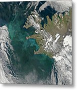 Phytoplankton Bloom In The North Metal Print by Stocktrek Images