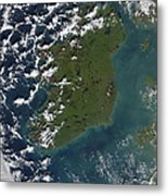Phytoplankton Bloom Off The Coast Metal Print