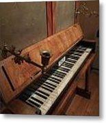 Piano Candelabra Metal Print