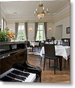 Piano In A Upscale Dining Room Metal Print