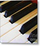 Piano Keys . V2 Metal Print