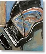 Piano With Spiky Heel Metal Print