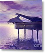 Piano's Lesson Metal Print